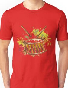 Drum with splashes in watercolor style Unisex T-Shirt