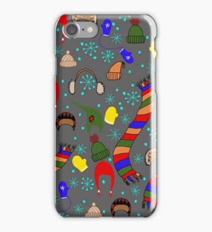 Winter clothing iPhone Case/Skin