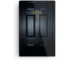Sherlock 221b Door Metal Print