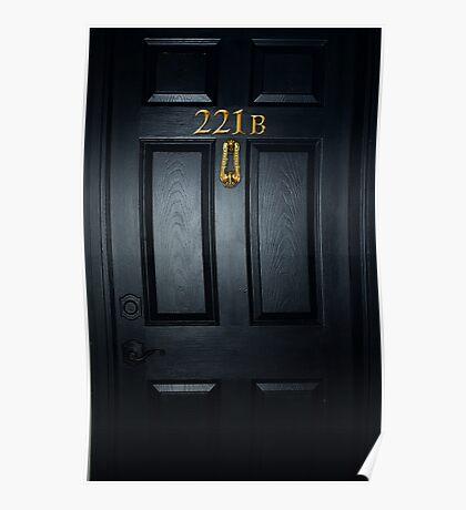Sherlock 221b Door Poster