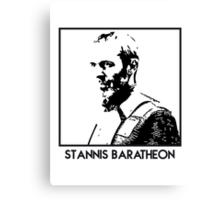Stannis Baratheon Inspired Artwork 'Game of Thrones' Canvas Print