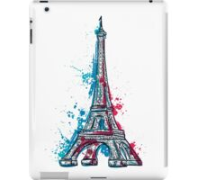 Eiffel Tower with abstract splashes in watercolor style iPad Case/Skin