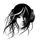 music rhythm headphones girl graphics club chill Ambient by RISHAMA