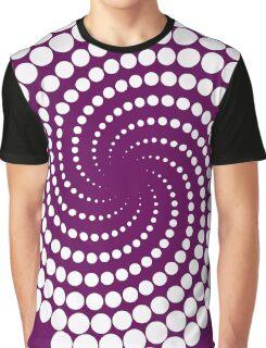 white and purple Graphic T-Shirt