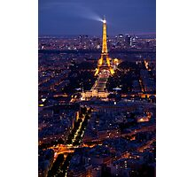 Eiffel Tower at twilight Photographic Print