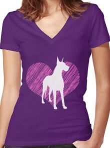 Gifts for Great Dane Lovers I love Great Dane Women's Fitted V-Neck T-Shirt