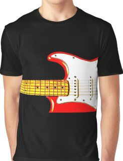 Red Guitar Graphic T-Shirt