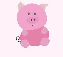 Piggy Vector - Large - pink by Samantha Mercado
