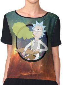 Spaced Rick - Rick and Morty Chiffon Top