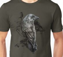 crow gothic bird raven realism drawing sketch tattoo Unisex T-Shirt