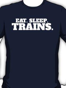 Model Railroader Funny 'Eat. Sleep. Trains.' T-Shirt T-Shirt