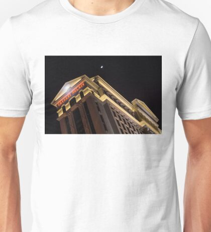 Caesars Palace with a Half Moon - Midnight in Las Vegas Unisex T-Shirt