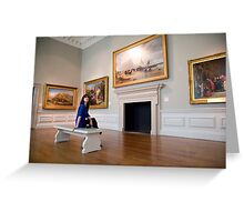 A day out in Greenwich - British Maritime Paintings Greeting Card