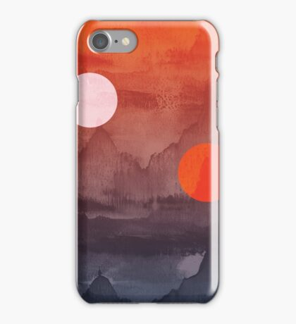 Star Wars A New Hope inspired artwork two suns iPhone Case/Skin