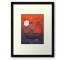 Star Wars A New Hope inspired artwork two suns Framed Print