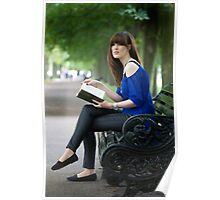A day out in Greenwich - the park bench Poster