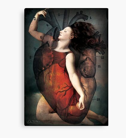 With all my heart Canvas Print