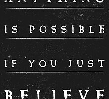 Anithing is possible quote stylish black and white illustration by vinainna
