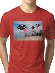 Aliens attack Recife, Brazil Tri-blend T-Shirt