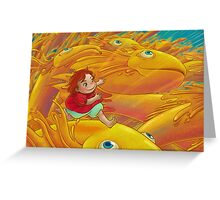 Flight of Ponyo Greeting Card