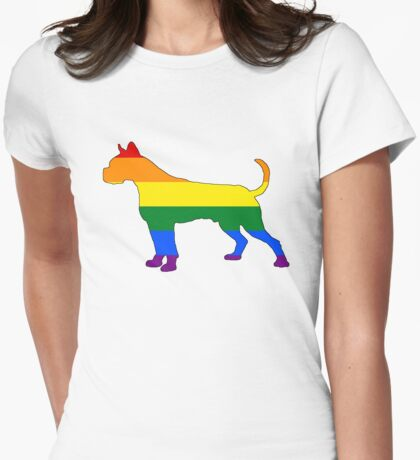 Rainbow Dog Womens Fitted T-Shirt