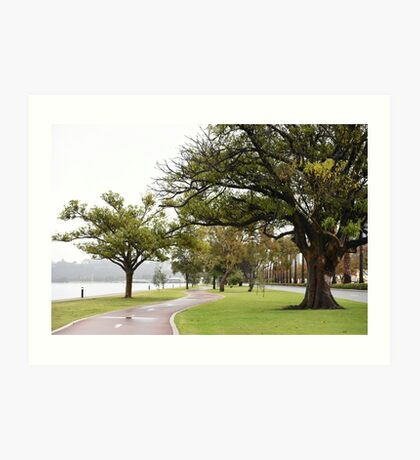 Perth Riverside Drive during the winter months Art Print