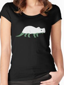 Ghost Triceratops Women's Fitted Scoop T-Shirt