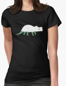 Ghost Triceratops Womens Fitted T-Shirt