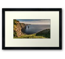 Cliffs of moher sunset county clare ireland Framed Print