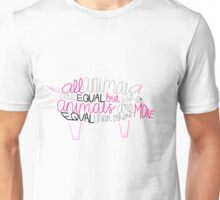 """Animal Farm by George Orwell - """"All animals are equal but some animals are more equal than others"""" Unisex T-Shirt"""