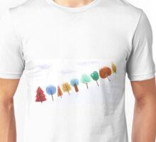 Christmas tree snowy scene Unisex T-Shirt