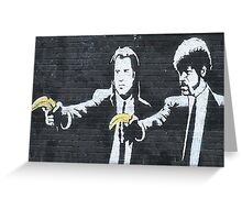 Banksy Pulp Fiction Greeting Card