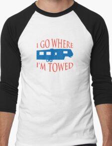 I Go Where I'm Towed - Fifth Wheel - Red, White & Blue Men's Baseball ¾ T-Shirt