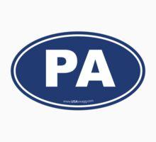 Pennsylvania PA Euro Oval BLUE by USAswagg2