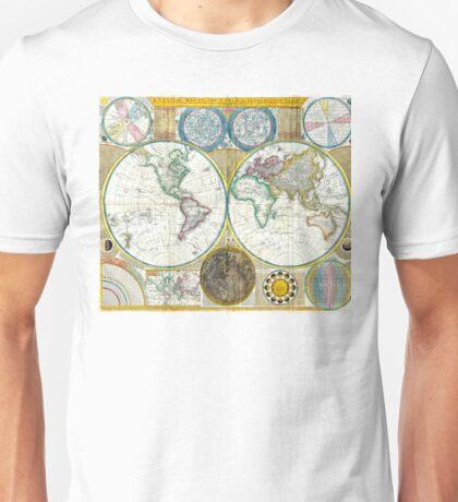 Map of the world - 1794 Unisex T-Shirt