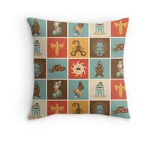 The Lovecraftian Squares Throw Pillow
