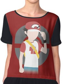 Red's Return - Pokemon Sun & Moon Chiffon Top