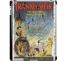 Frankenstein Boris Karloff Movie Vintage Poster iPad Case/Skin