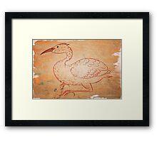 Vintage bird Framed Print