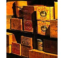 Kam Wah Chung museum shelves Photographic Print