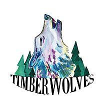 Minnesota Timberwolves design Photographic Print