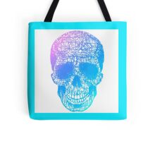 Rainbow Scribble Skull Tote Bag