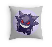 Gengar Splatter Throw Pillow