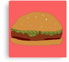 Burger Collage With Leaf Detail Canvas Print