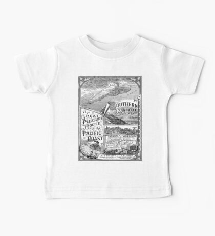 Vintage poster - Pacific Coast Baby Tee