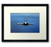F/A-18E Super Hornet from the Tophatters of Strike Fighter Squadron (VFA) 14  Framed Print