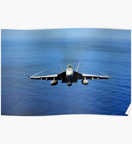 F/A-18E Super Hornet from the Tophatters of Strike Fighter Squadron (VFA) 14  Poster