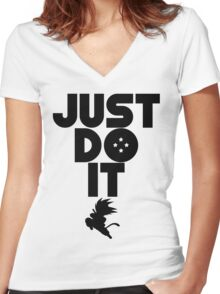 Just do it Dragonball Women's Fitted V-Neck T-Shirt