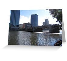 Water Front Hotel Greeting Card