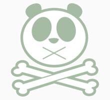 Panda Cross Bone - Green Kids Tee